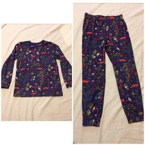 L.L. Bean girls 6X/7 pajama set